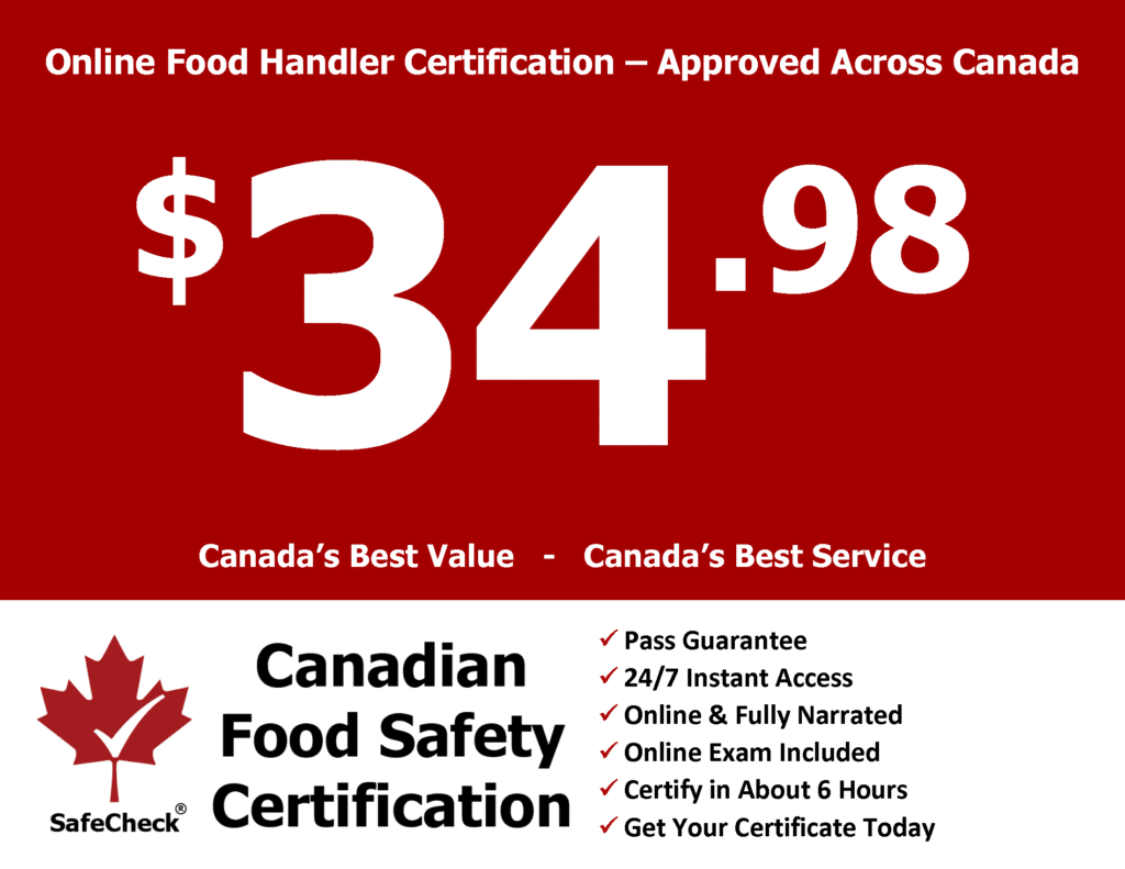 Canadian Food Safety Canadas Best Value Food Handler Certificate