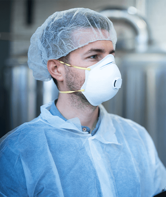 Technologist Working Food Processing Factory